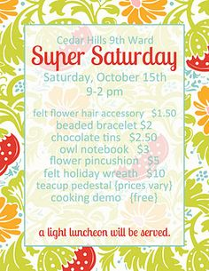all things simple: 10 tips for a successful super saturday. Hook, this might be helpful! Singing Lessons, Singing Tips, Craft Day, Craft Night, Relief Society Activities, Enrichment Activities, Visiting Teaching, Crafty Craft, Felt Flowers