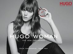 Freja Beha Erichsen is the face of the Hugo Woman fragrance