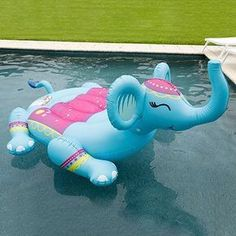 Giant Animal Pool Float - Inflatable Pool Float - Ideas of Inflatable P. Cute Pool Floats, Giant Pool Floats, Pool Toys And Floats, Giant Animals, Inflatable Float, My Pool, Pool Fun, Pool Accessories, Summer Pool