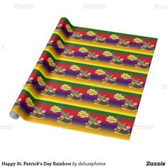 Happy St. Patrick's Day Rainbow Wrapping Paper
