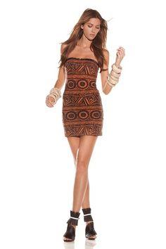 ALEXIS Kai Short Strapless Dress with Fringe Trim
