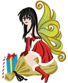 Christmas Anime 003 embroidery design