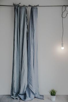 Linen curtains/ linen drapes in ice blue/silver grey or bluish grey Blue Curtains Bedroom, Custom Drapes, Linen Curtains, Grey Linen Curtains, Blue Curtains, Curtains, Curtain Decor, Cool Curtains, Blue Curtains For Bedroom