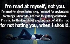 I'm not mad at you ☺