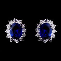 Kate Middleton Inspired Sapphire Blue Earrings - beautiful!