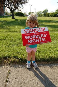 Fighting back and standing up for workers' rights!
