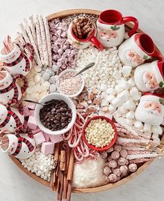 Hot chocolate bar board. What a smart idea!