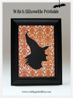 Witch Silhouette Printable use this for dog silhouette