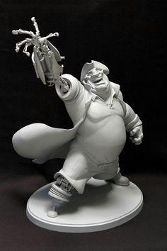 John Silver maquette.