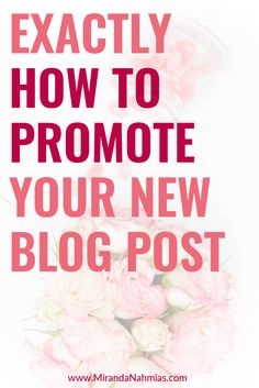 Exactly How to Promote Your New Blog Post // Miranda Nahmias << blogging
