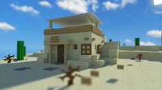 Simple desert house minecraft design from easy minecraft house designs. Minecraft Desert House, Easy Minecraft Houses, Minecraft Houses Blueprints, Minecraft City, Minecraft Plans, Minecraft House Designs, Minecraft Survival, Minecraft Decorations, Minecraft Creations