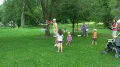 Children enjoy the outdoor activities and games