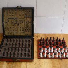 Chess Set of Wooden Antique Miniature Chess Board Pieces with Storage - INNOVATIVE PRODUCTS PORTAL - MyProductPortal.com