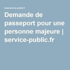 Demande de passeport pour une personne majeure | service-public.fr