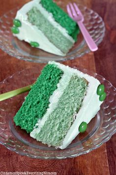 Green Ombre Cake with White Chocolate Mint Buttercream