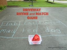 Driveway Rhyme and Match Game