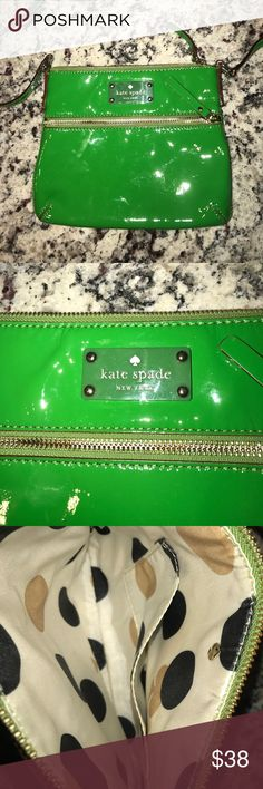Kate Spade Patent Leather Crossbody Some scratches on the back but other than that in excellent shape. This was my go to St. Patrick's day bag. It's calling your name! kate spade Bags Crossbody Bags