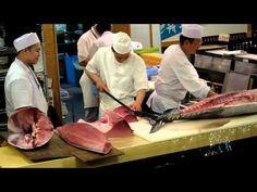Tuna Cutting Show at S-Pulse Dream Plaza, Shizuoka City. Then taste the finest Sushi!