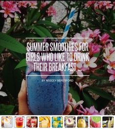 #🍓🍉Summer Smoothies for Girls Who like to Drink Their Breakfast 🍒🍍 ... - Food