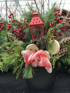 Christmas Wreaths, Christmas Decorations, Xmas, Christmas Ornaments, Holiday Decor, Outdoor Christmas Planters, Floral Arrangements, Decorating Ideas, Outdoors