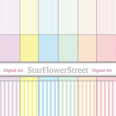 pastel colors mint green digital paper soft pastels stripe digital paper scrapbook papers scrapbooking download pastel starflowerstreetda StarFlowerStreetDA on Etsy: (3.50 USD)