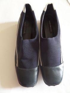 SESTO MEUCCI Women's Shoes Size-9.5M Blue Italy Very Good! #SestoMeucci #Sportyslipons