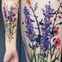 Floral tattoo watercolor tattoo tattoos, wildflower tattoo i Cute Tattoos, Body Art Tattoos, New Tattoos, Sleeve Tattoos, Tatoos, Heart Tattoos, Skull Tattoos, Pretty Flower Tattoos, Beautiful Tattoos