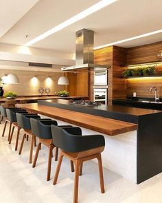 44 fabulous modern kitchen sets on simplicity, efficiency and elegance 6 44 fabulous modern kitchen sets on simplicity, efficiency and elegance 6 Modern Kitchen Cabinets, Kitchen Layout, Kitchen Colors, Kitchen Flooring, Oak Cabinets, Kitchen Backsplash, Plywood Kitchen, Kitchen Appliances, Kitchen Counters