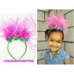 Poppy Troll headband poppy bow poppy by PixieDustPrettiess on Etsy