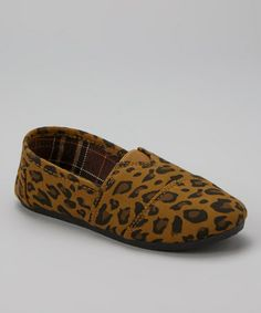 http://www.zulily.com/invite/vhanson979 Take a look at this Brown & Tan Leopard Slip-On Shoe by Carrini on #zulily today!