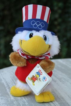 Sam the Eagle, 1984 Summer Olympics Mascot Olympic Mascots, Olympic Games, 1984 Summer Olympics, Mary Lou Retton, Go Usa, Sports Team Logos, Kids Growing Up, Union Jack, My Childhood