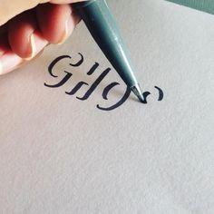 Bullet Journal Lettering Ideas, Bullet Journal Writing, Bullet Journal Ideas Pages, Creative Lettering, Lettering Styles, Calligraphy For Beginners, Hand Lettering Alphabet, Hand Lettering Tutorial, Writing Styles