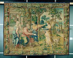 1. Tobias stellt dem Vater seinen Reisebegleiter vor Medieval Manuscript, Tobias, Renaissance, Painting, Art, Father, Viajes, Art Background, Painting Art