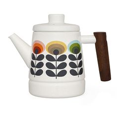 73,50€ #orla #kiely #enamel #teapot #retro available at https://www.goodshaus.com/ORLA-KIELY-Enamel-Teapot