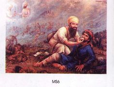 Bhai Ghaniya, water carrier in Guru Gobind Singh's Army continued to do Jal Seva (water service) to all-friend or foe,  in the battlefield. Guru supported his service to all. He is a precursor of Today's Red Cross.