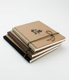 Cadernos Árvores Brasileiras, costurados e confeccionados a mão. Especiais para escrita e desenho, guarda-notas e idéias. Sem pauta.