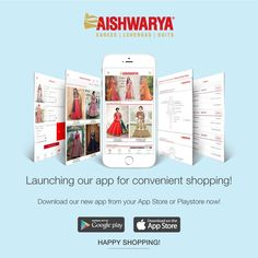 On this auspicious occasion of Akshay Tritiya we proudly present our new Aishwarya App! Here are the links to download the app -     iOS App Store - ​https://itunes.apple.com/us/app/aishwarya-design-studio/id1229131442?ls=1&mt=8    Android Play Store - ​​https://play.google.com/store/apps/details?id=com.volga.user.ads