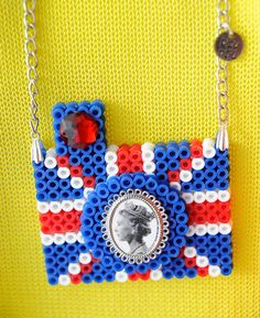 A Union Jack pendant. $18.00, via Etsy.