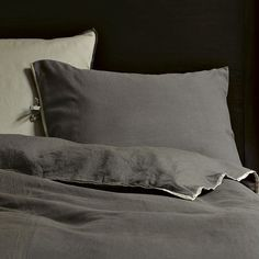 Linen/Cotton Duvet Cover, queen, Slate