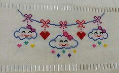Cross Stitch Bookmarks, Cute Cross Stitch, Cross Stitch Borders, Cross Stitch Designs, Cross Stitch Patterns, Knitting For Kids, Baby Knitting Patterns, Baby Patterns, Galaxy Wallpaper