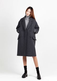 LOOKAST CHAPTER #6 - gray 4 pocket oversized coat