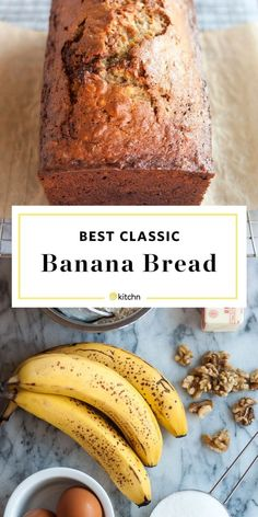 This simple recipe is the best way to accomplish that goal because it is so easy and quick. It takes all of 10 minutes to whisk together a few basic ingredients and then you are on your way to a warm loaf of banana bread. Easy Bread Recipes, Banana Bread Recipes, Cooking Recipes, Easiest Banana Bread Recipe, Banana Bread Recipe No Baking Soda, Banana Bread Recipe Pioneer Woman, Frozen Banana Recipes, Banana Bread Ingredients, 3 Ingredients