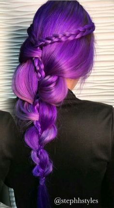 Purple dyed hair color