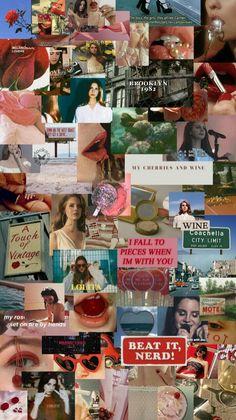Tumblr Wallpaper, I Wallpaper, Wallpaper Quotes, Wallpaper Backgrounds, Lana Del Ray, Lana Del Rey Lyrics, Aesthetic Collage, Retro Aesthetic, Aesthetic Iphone Wallpaper