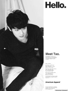 EXO for American Apparel: Meet Tao