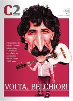 Caricatura do Belchior para Capa do Caderno 2 de A Gazeta