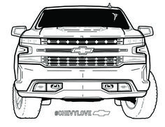 Make a strong first impression. School Coloring Pages, Truck Coloring Pages, Coloring Books, Camaro Car, Corvette, Chevy Silverado, Backyard Projects, Baby Safety, Dream Garage