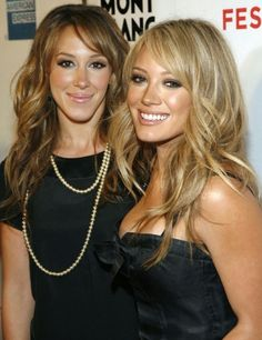 Haley and Hilary Duff - best friends.