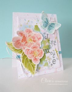 Watercolor effect - Stampendous stamps colored with Distress Markers and Distress Stains on smooth white premium cardstock from Core'dinations. #core'dinations, #watercoloreffect, #stampendous.