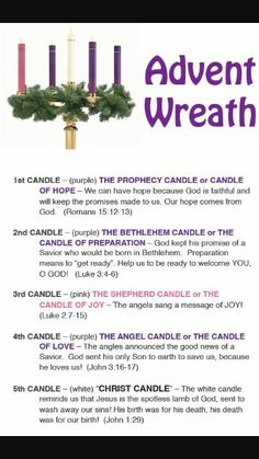 meaning of colors of advent candles – Yahoo Image Search Results – Advent Wreath İdeas. Christmas Poems, Christmas Time Is Here, Christmas Holidays, Happy Holidays, Christmas Decor, Merry Christmas, Xmas, Advent Activities, Christmas Activities